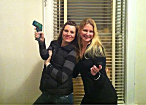 I have to share this picture because we are so Charlie's Angels with our ghost hunting equipment!  Plus, it's Valentine's Day, and this is a girl I love - one my all-time besties, Cara Miller.