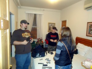 Shawn, Sean and I checking equipment before the investigation.