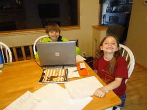My proud, little screenwriters!