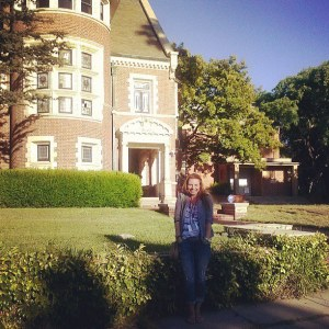 I really don't have many TV shows that I'm devoted to watching, but I can't miss American Horror Story!  And when I found out that the house from season one was only a couple miles away from the house we were going to dinner at Monday night, we HAD to stop!