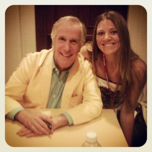 Every year, Henry Winkler is at this conference because he's a dear friend and co-writer with SCBWO co-founder Linn Oliver.  I'm always too busy helping out with the book signing to get a picture with him, but this year, I had to prove to my kids that I he really is there every year!
