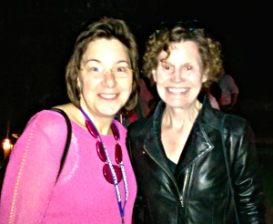 My friend Alicia and Judy Blume (one of the few celebrities I might geek out over hanging out with)!
